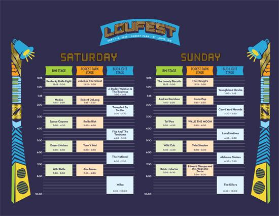 LouFest 2013 Schedule