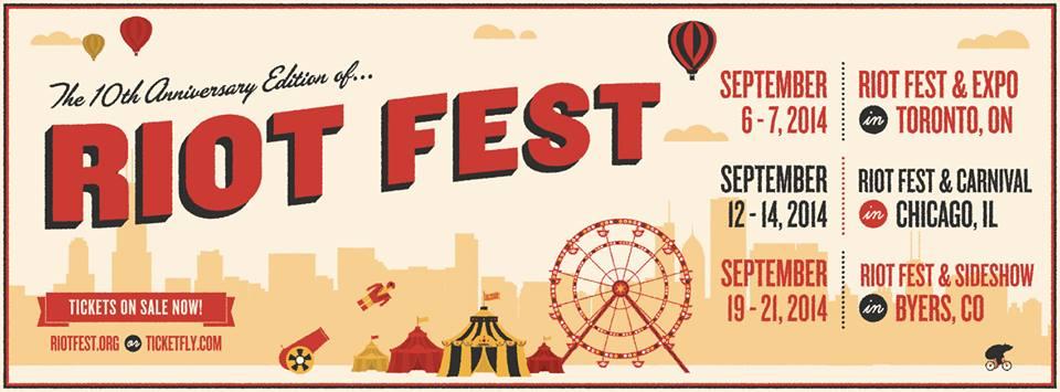 Riot Fest   2014 Artist Announcement - Crescent Vale