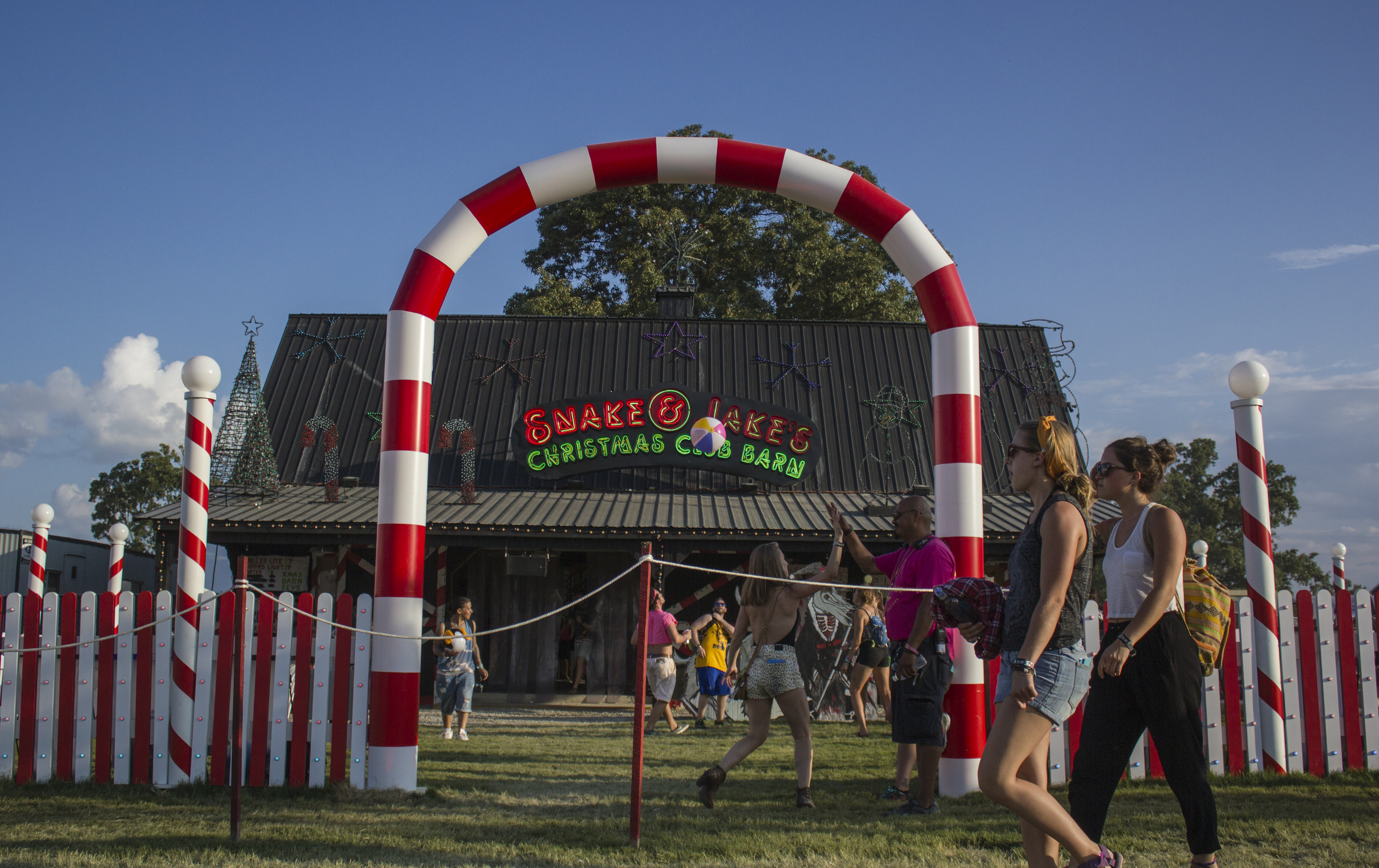 Snake & Jakes Christmas Club Barn at the Bonnaroo Music & Arts Festival in Manchester, Tennessee on 06/12/15. Photo by: Matthew McGuire.