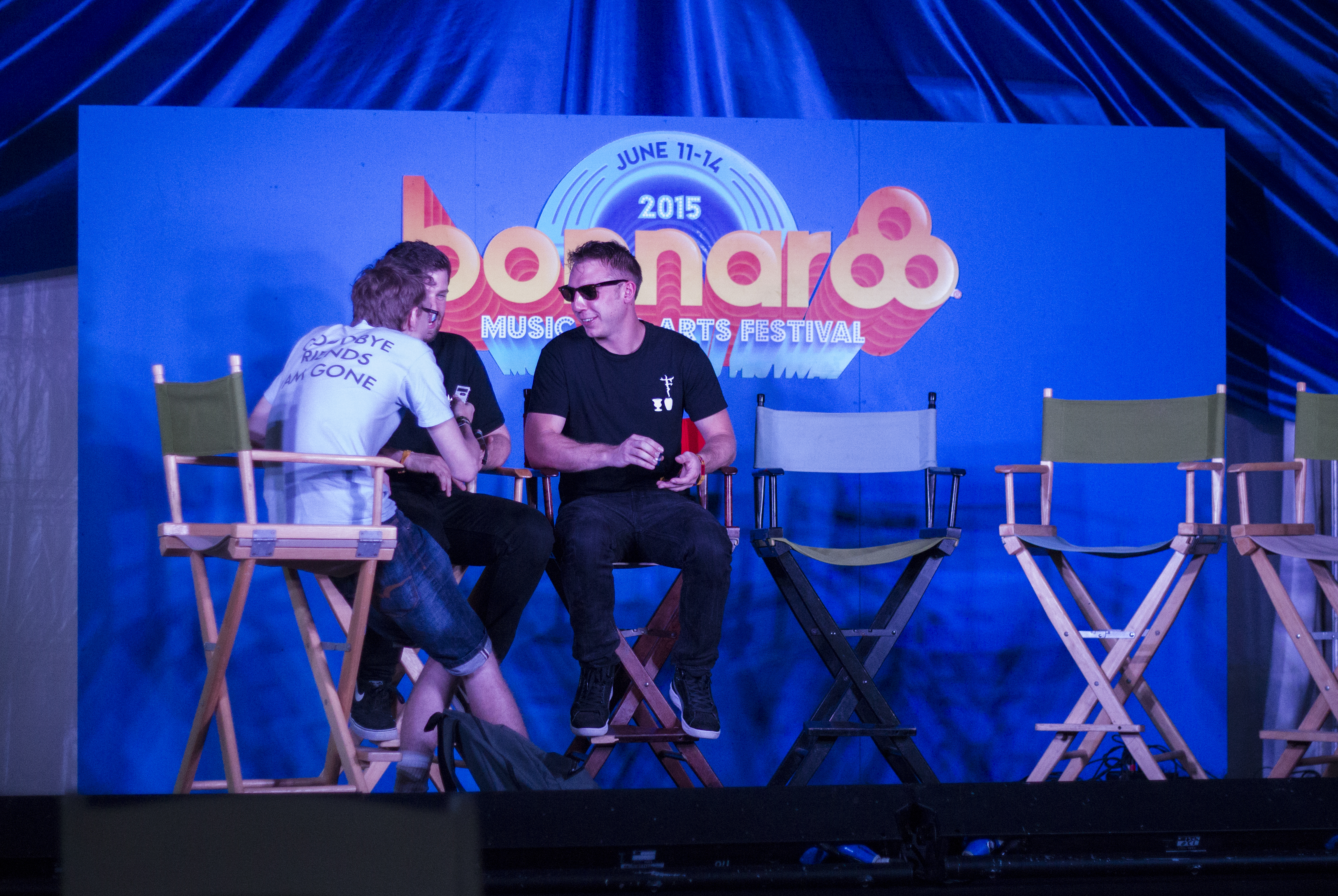 Odesza interview. Bonnaroo 2015. Photo by: Matthew McGuire