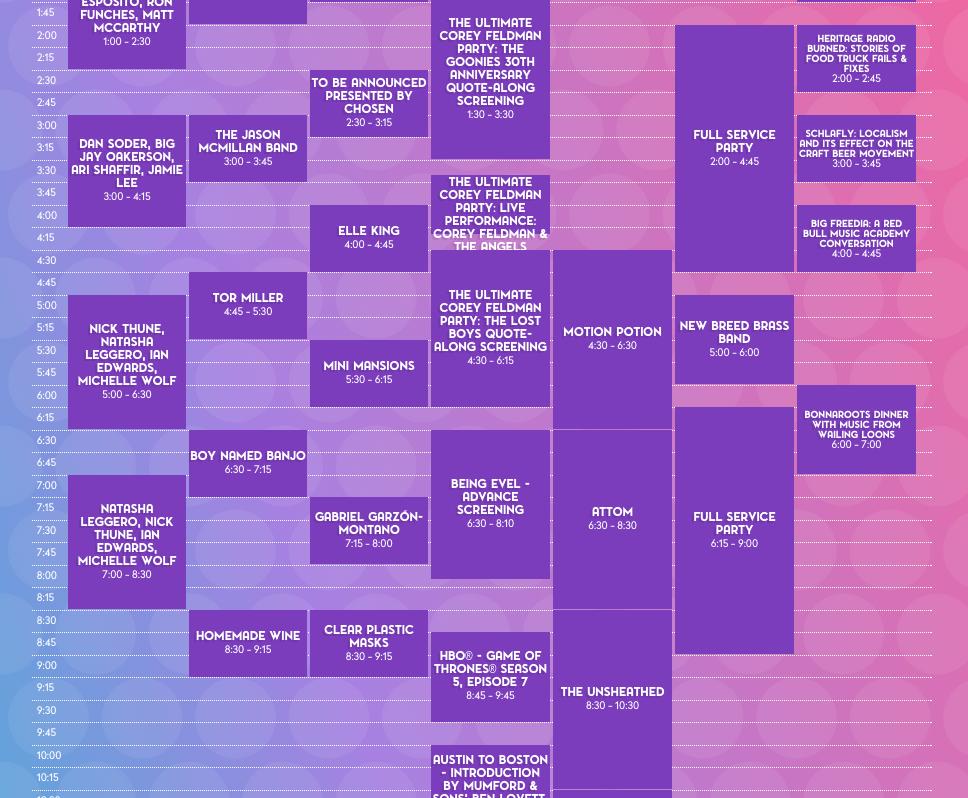 Bonnaroo 2015 dates