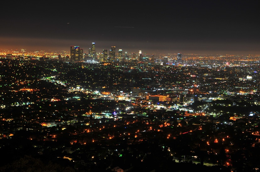 California at night. Photo by: tookapic.com