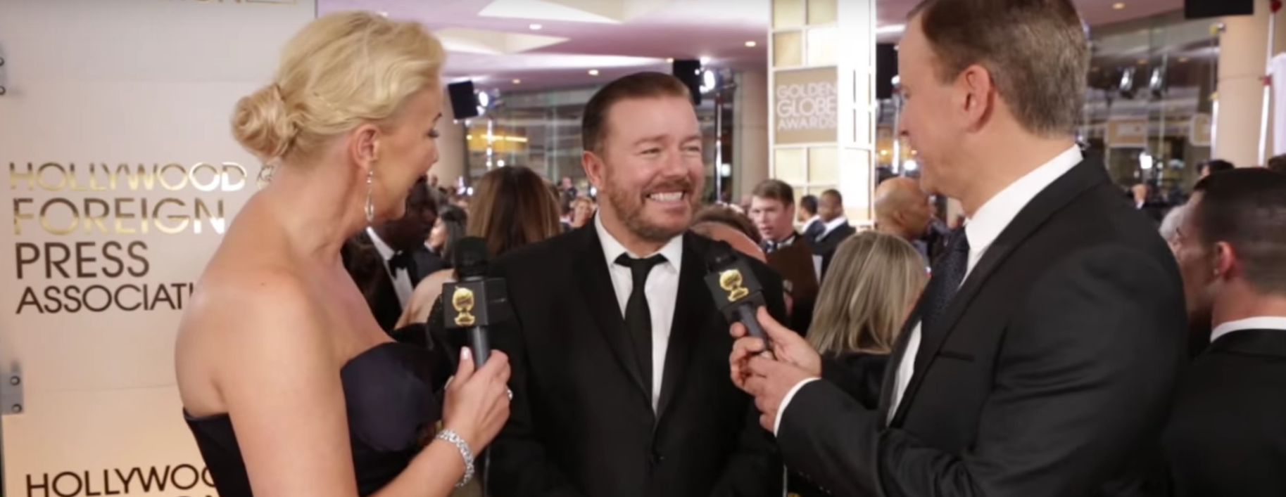Ricky Gervais. Golden Globes / YouTube