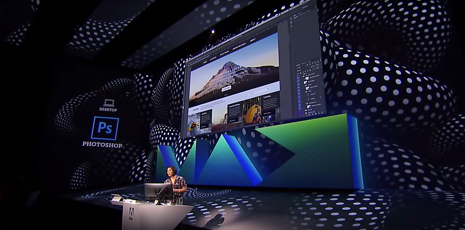 Zorana Gee, at Adobe MAX 2015 in Los Angeles. Photo by: Adobe Creative Cloud / YouTube