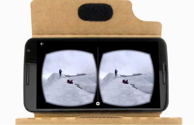 Google Cardboard. Photo by: Google
