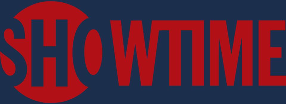 Showtime logo with Amazon Prime blue background.