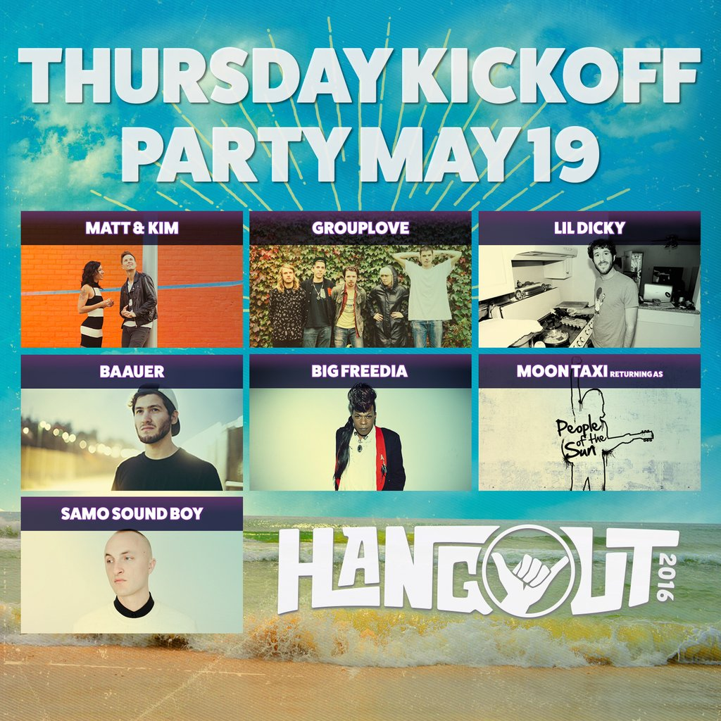 Thursday Kickoff Party at the 2016 Hangout Music Festival. Photo by: Hangout Music Festival / Twitter