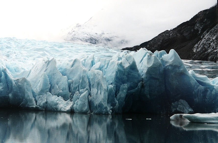 A melting glacier from warmer temperatures and climate change. Photo by: www.lifeofpix.com