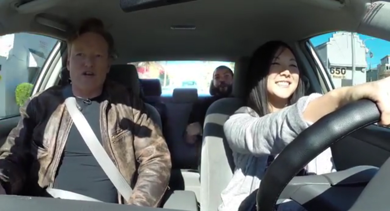 Ice Cube, Kevin Hart And Conan Help A Student Driver still image. Photo by: YouTube