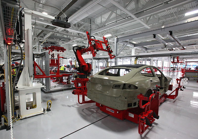 Tesla Motors factory. Photo by: Steve Jurvetson