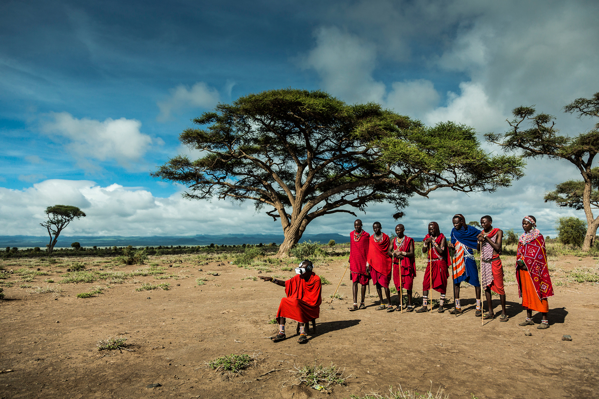 MAASAI - still from shooting on the ground courtesy of FELIX & PAUL STUDIOS. Photo by: Tribeca Film Festival