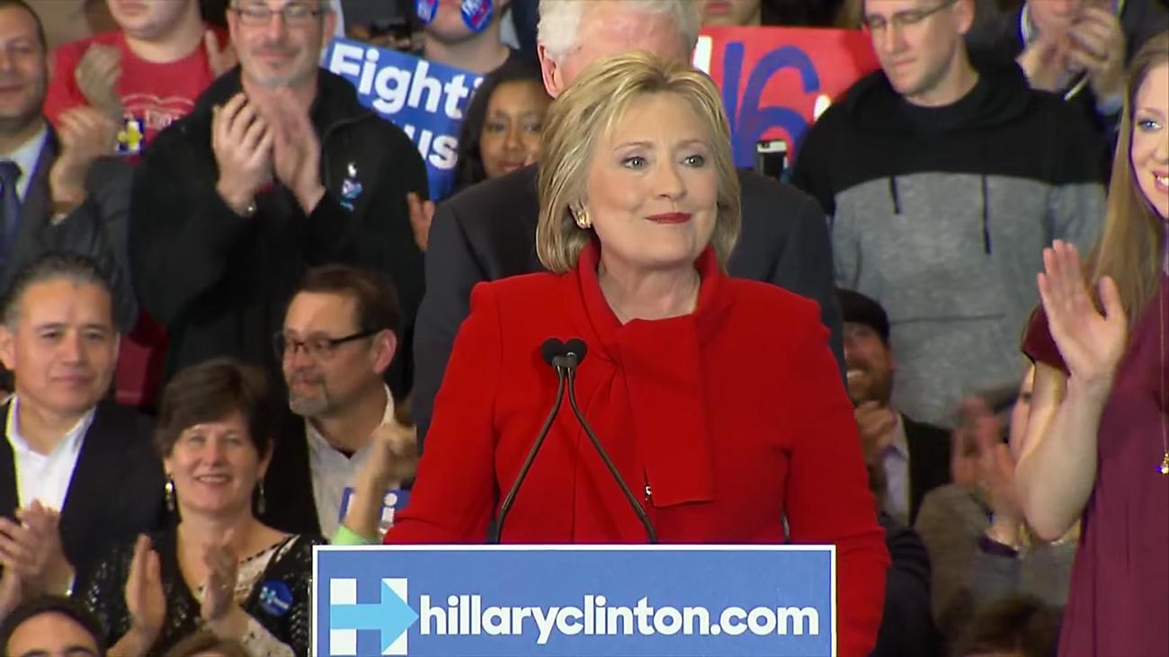 Hillary Clinton at the 2016 Iowa Caucus. Photo by: PBS NewsHour / YouTube