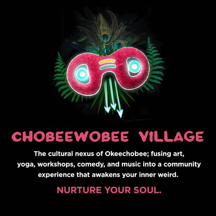 Okeechobee Music & Arts Festival digital graphic for ChobeeWowbee Village. Photo by: Okeechobee Music & Arts Festival