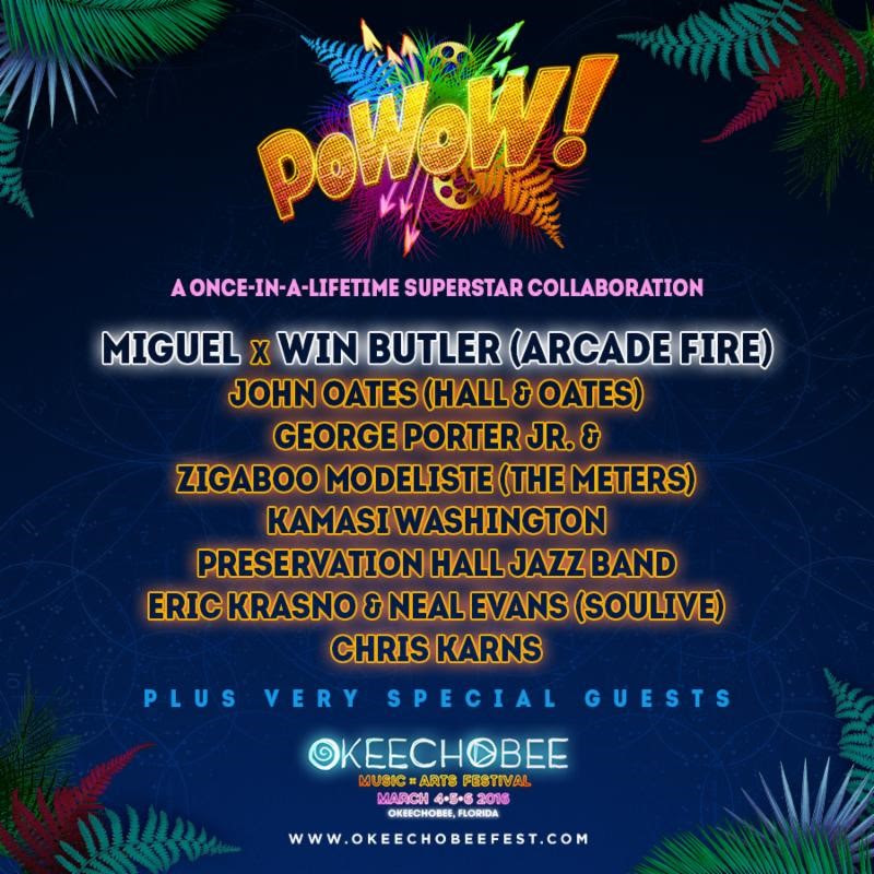 Okeechobee Music Festival's 2016 Pow-Wow! Superjam lineup. Photo provided.