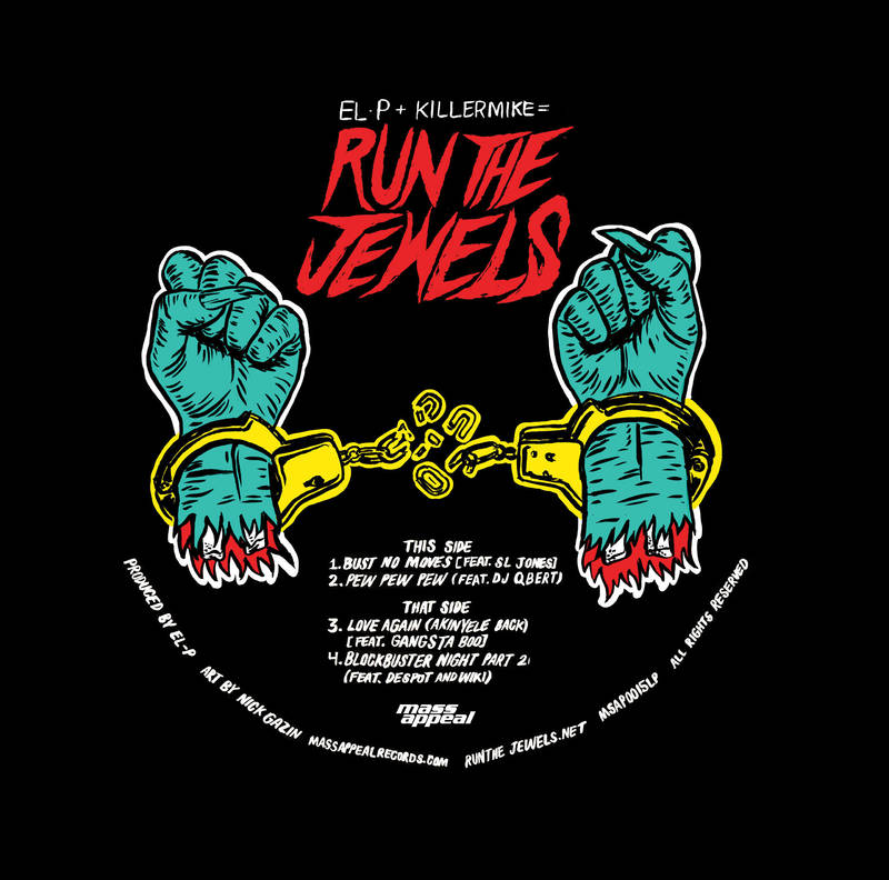 Run the Jewels album artwork for vinyl album coming out April 16 on Record Store Day. Photo by: Record Store Day