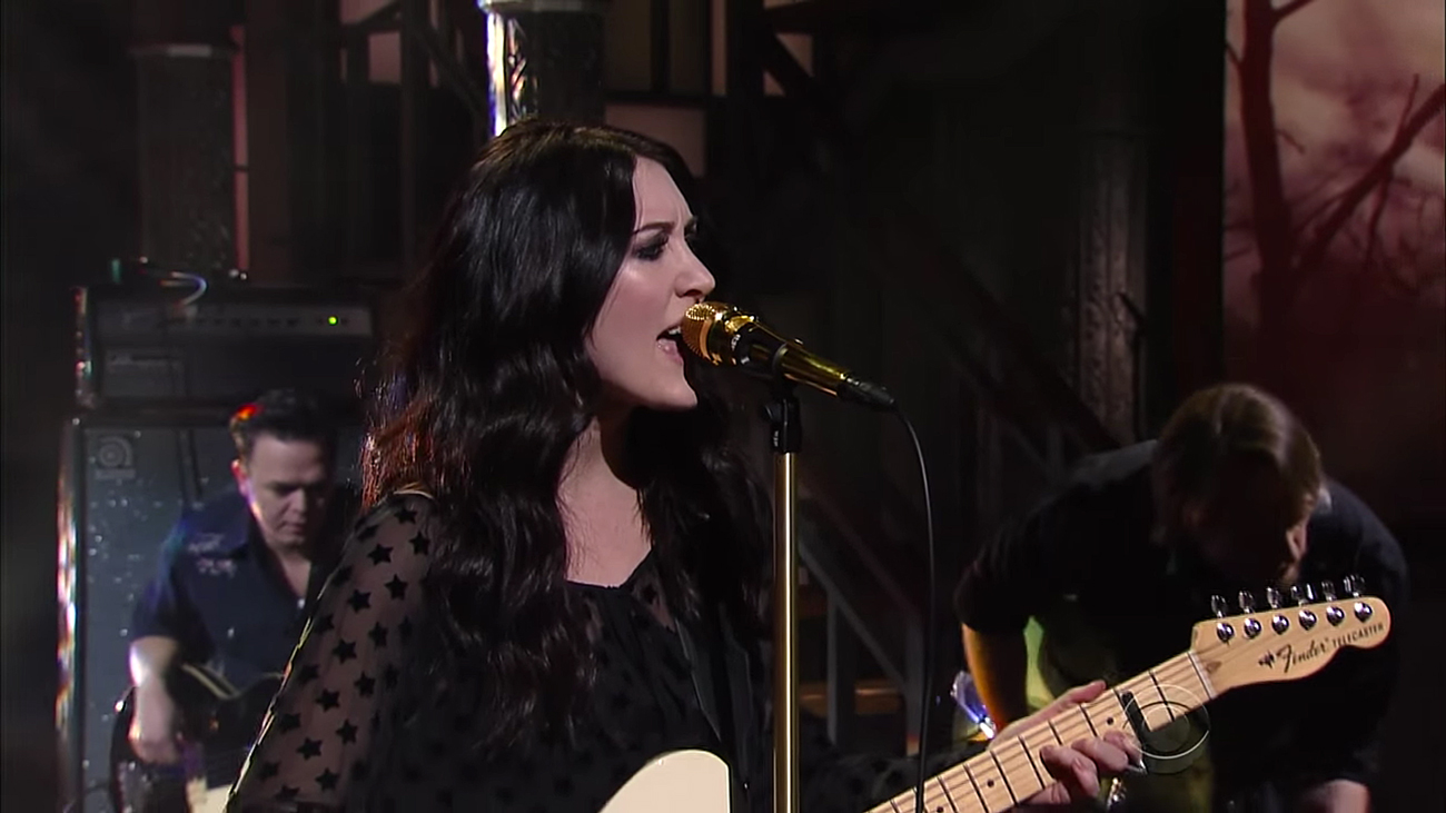 Aubrie Sellers on the Late Show with Stephen Colbert. Photo by: CBS / YouTube