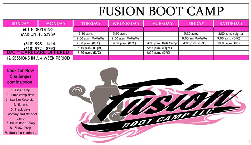Fusion Boot Camp. Photo provided.