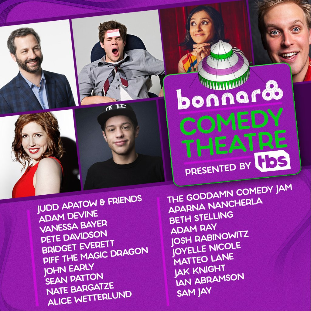 Bonnaroo Comedy Lineup. Photo by: Bonnaroo Music Festival 2016.