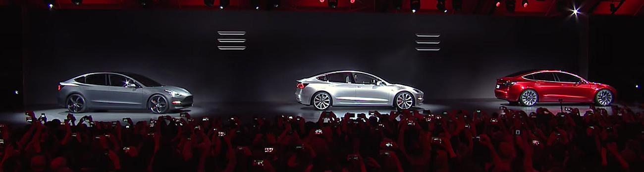 Tesla Motors Model 3. Photo by: Tesla Motors / YouTube