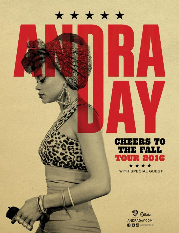 Andra Day fall tour. Photo provided.