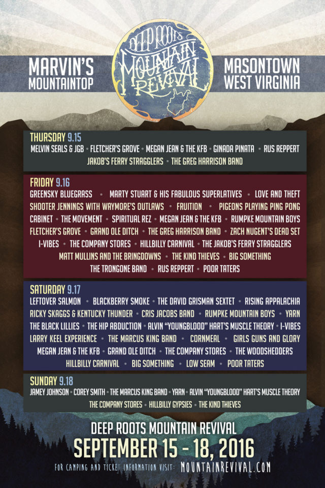 Deep Roots Mountain Revival lineup. Photo by: Deep Roots Mountain Revival