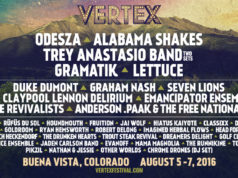Vertex Festival 2016 lineup. Photo by: Vertex Festival
