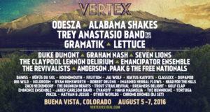 Vertex Festival 2016 lineup. Photo by: Vertex Festival
