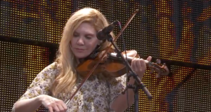 Alison Krauss performing at Farm Aid 2016. Photo by: Farm Aid / YouTube