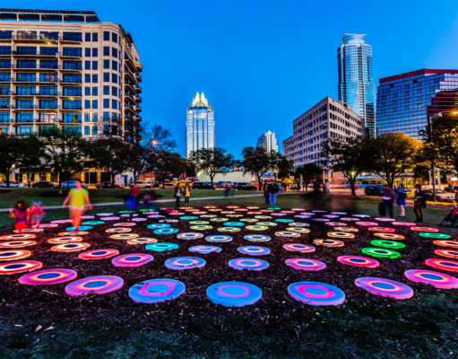 The Pool by artist Jen Lewin featured at SXSW Interactive 2013. Photo by: Aaron Rogosin/Wikimedia Commons