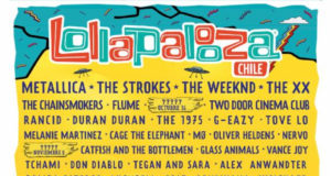 Lollapalooza Chile 2016 lineup. Photo provided.