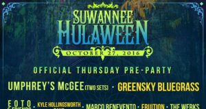 Suwannee Hulaween 2016 Pre-Party lineup. Photo by: Suwannee Hulaween