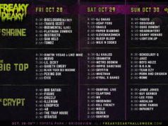 Freaky Deaky 2016 schedule. Photo by: Freaky Deaky