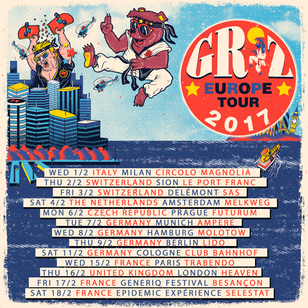 GRiZ Europe Tour Dates. Photo by: GRiZ