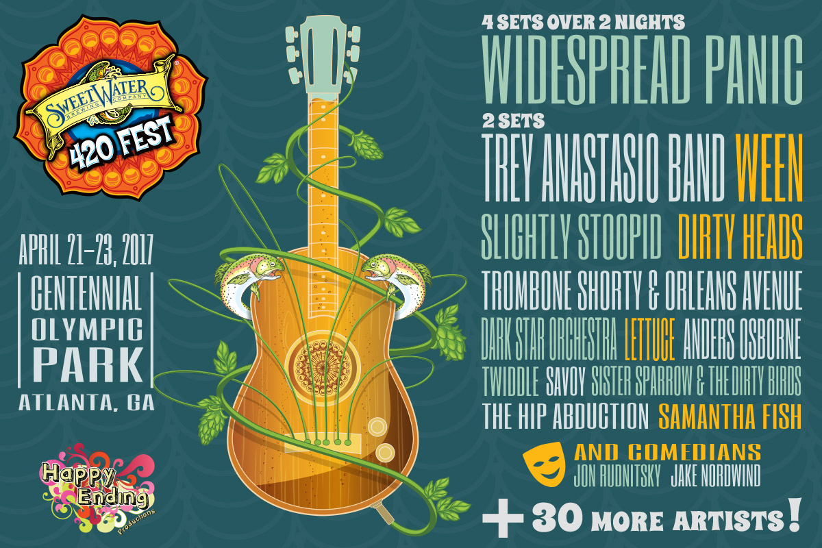 Sweetwater 420 Fest Announces Widespread Panic Trey Anastasio Band As Headliners