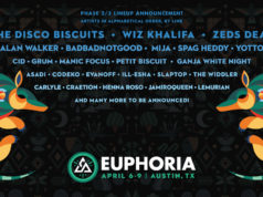 Euphoria Music Festival artist additions. Photo provided.