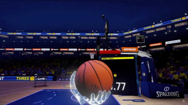 NBA 2KVR Experience. Photo by: Playstation / YouTube