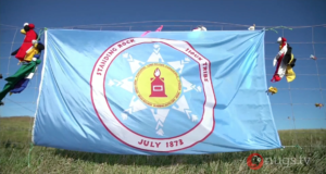 Standing Rock flag. Photo by: Nugs.tv / YouTube