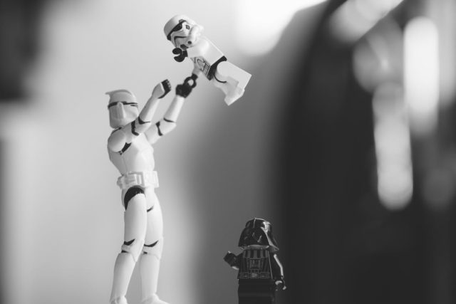 Star Wars plastic toys engaging in Rogue One: A Star Wars Story. Photo by: Pexels.com