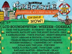 Forecastle Festival 2017 lineup. Photo by: Forecastle Music Festival