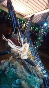 Flash the Marlin, an art exhibit with Washed Ashore at the Denver Zoo. Photo by: Matthew McGuire