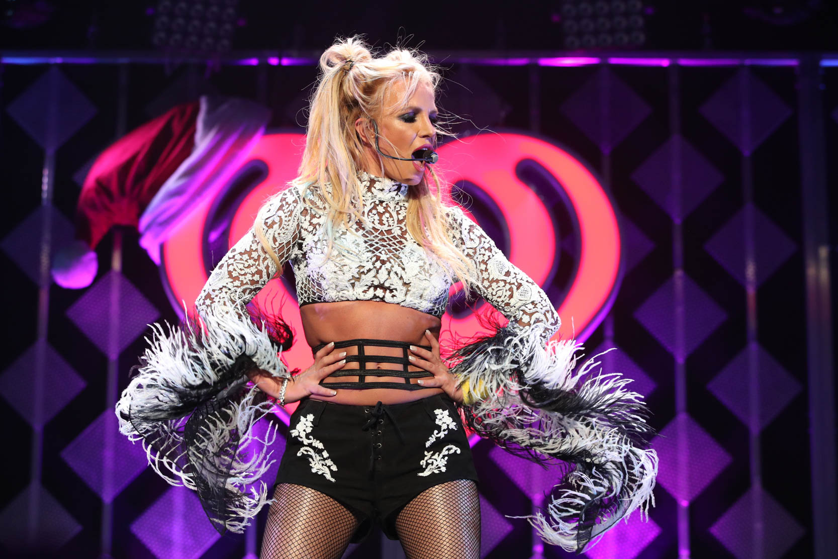 Britney Spears celebrates 35th birthday onstage