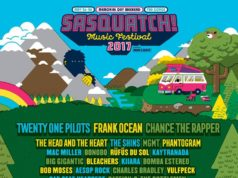 SASQUATCH! Music Festival 2017 lineup. Photo by: SASQUATCH! Music Festival
