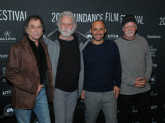 Director Amir Bar-Lev along with Bill Kreutzmann, Bob Weir and Mickey Hart of the Grateful Dead attend the World Premiere of Long Strange Trip by Amir Bar-Lev, an official selection of the Documentary Premieres program at the 2017 Sundance Film Festival. © 2017 Sundance Institute | photo by Jemal Countess.