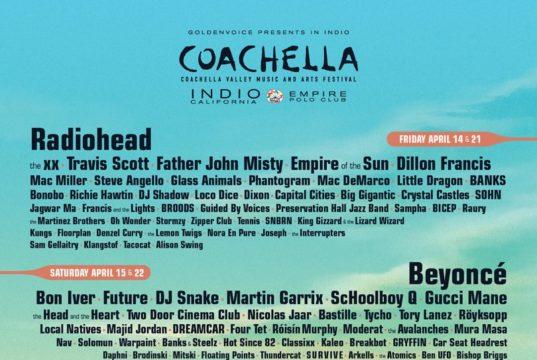 Coachella 2017 lineup. Photo by: Coachella