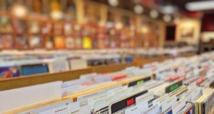 Records at a music store. Photo by: Pexels.com
