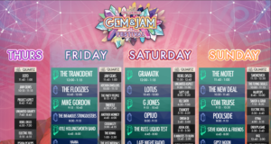 Gem and Jam Festival 2017 lineup. Photo by: Gem and Jam Festival