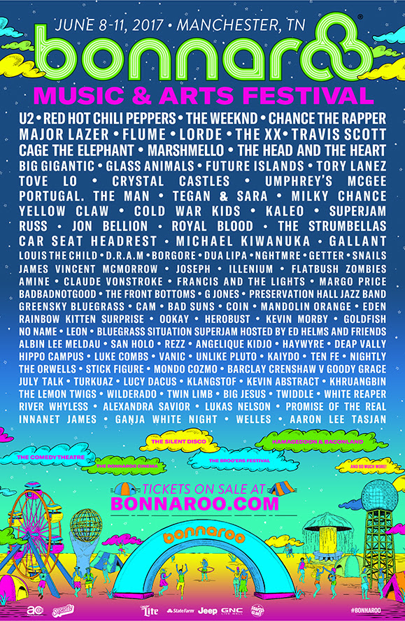 Bonnaroo Music Festival 2017 lineup. Photo by: Bonnaroo
