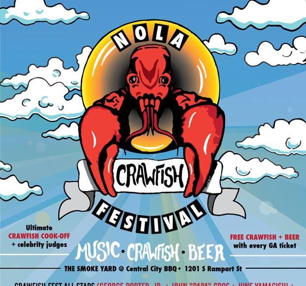 NOLA Crawfish Festival 2017 Lineup. Photo by: NOLA Crawfish Festival / Twitter