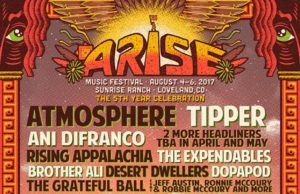 ARISE Music Festival 2017 lineup. Photo by: ARISE Music Festival