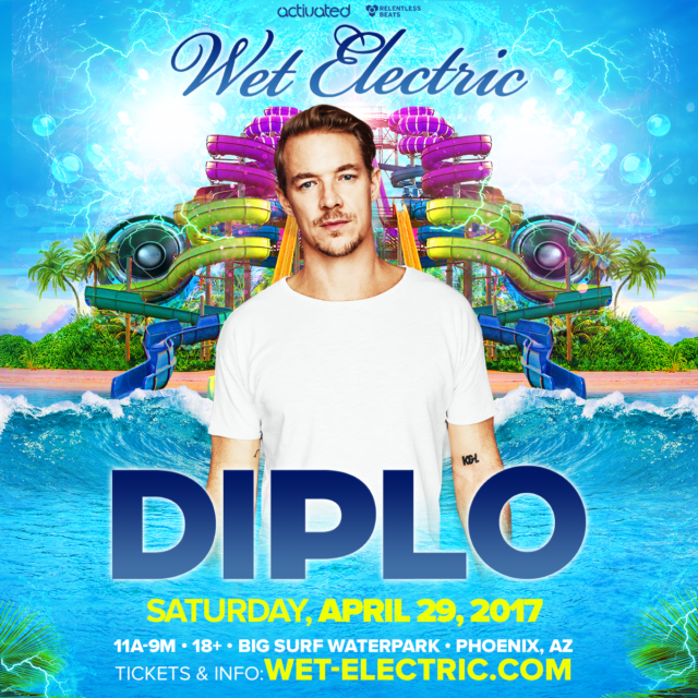 Diplo set to headline Wet Electric 2017. Photo provided.